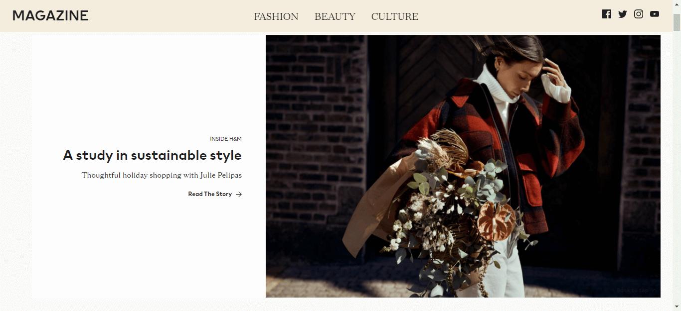 Chiến lược nội dung blog của H&M thực sự là một chiến lược truyền cảm hứng.