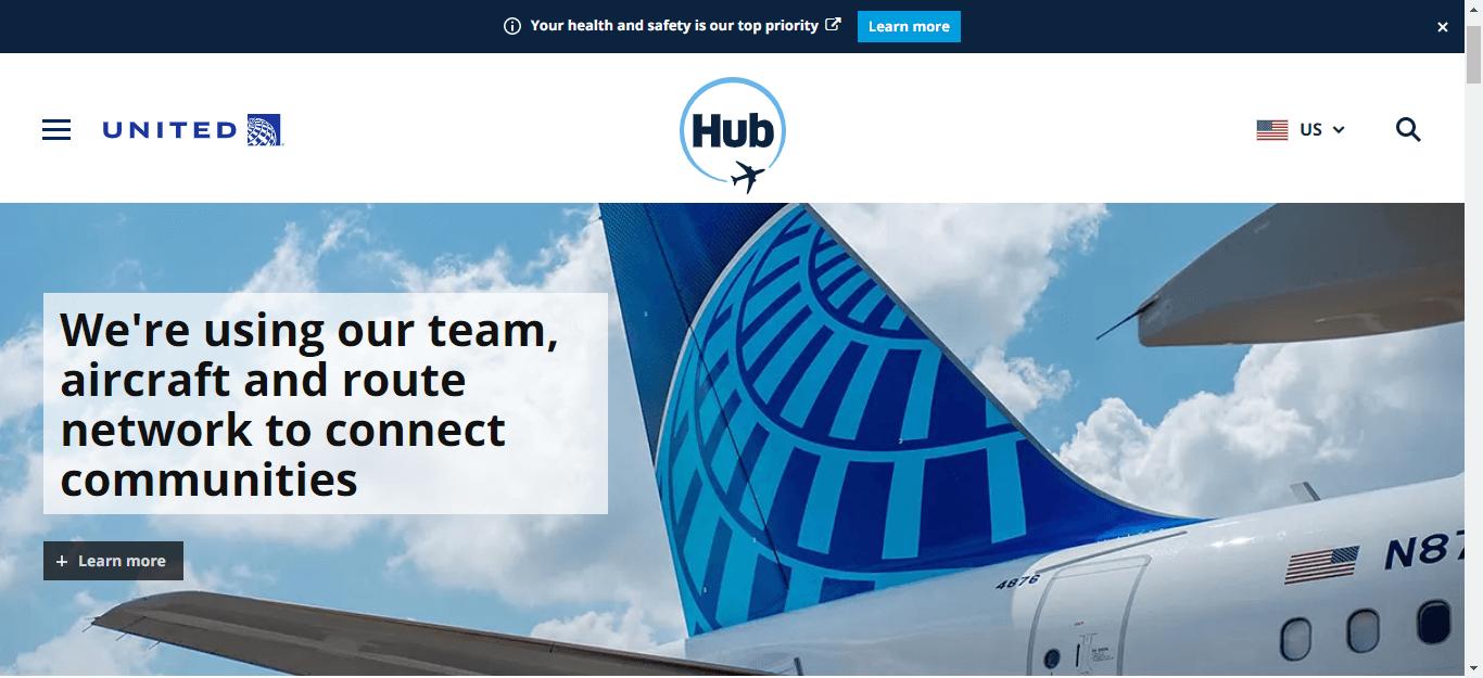 Thêm một ví dụ về blog tốt là Hub của United Airlines.